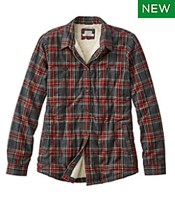 Scotch Plaid Shirt, Sherpa-Lined